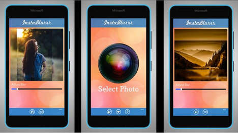 Picture-Blurring Apps - This Tool Helps Users Blur Borders to Give Their Photos a Nostalgic Feel