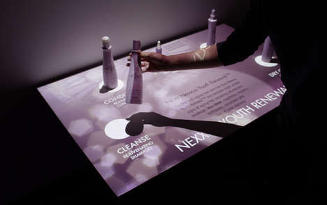 High-Tech Product Tables - Perch Interactive's Product Showcase Highlights a Hair Renewal System