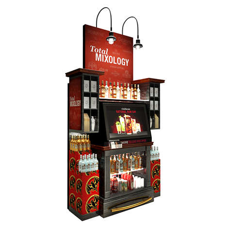 Bar-Shaped Kiosks - This Inventive Bar Station Introduces Retail to a Mixologist's Environment