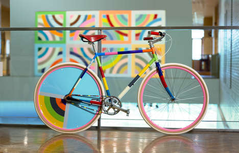 Artwork-Inspired Bicycles - These Bike Installations Resemble Famous Works of Art at the MIA