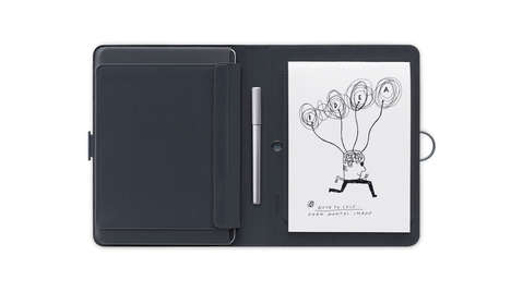 Digital Doodling Notepads - This Digital Notepad Uses a Real Pen and Paper to Make Virtual Documents
