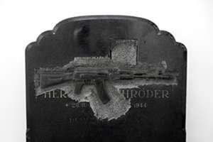 Carved Gun Gravestones