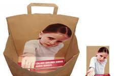 Bizarre Bagvertising - Defying Boring Shopping Bags