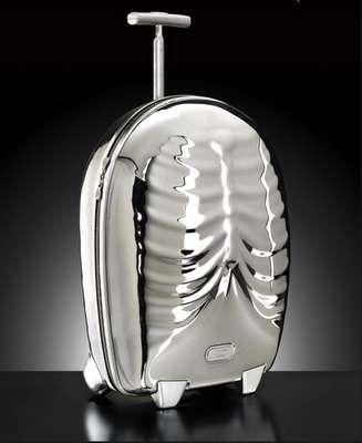 Skeleton Luggage II - The Silver 'Hero' by Samsonite & Alexander McQueen