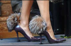 Pom-Pom Footwear - Fur Shoes Fit for Cruella De Vil