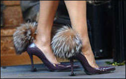 Fur Shoes Fit for Cruella De Vil