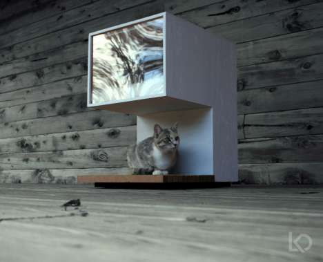 Minimalist Pet Houses - Cat Home by Leo Kempf