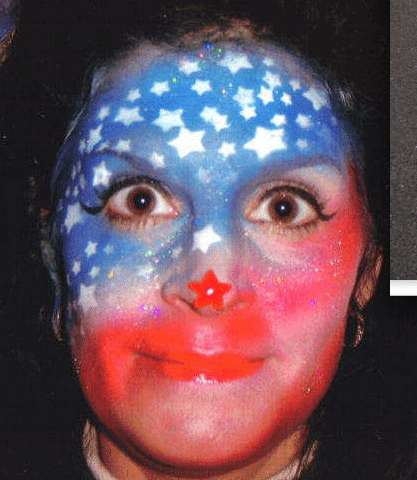 Patriotic Body Painting