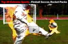 Top 20 KickAss Extreme Sports - Fireball Soccer, Rocket Packs and Flipping Wheelchairs