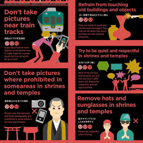 Tourist Curtesy Charts - This Infographic Explains Cultural Politeness and Faux-Pas in Kyoto, Japan