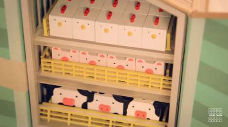 Satirical Farming Toys - 'Your Farm' by Compassion in World Farming Comments on Animal Farming