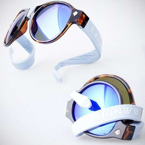 Custom Bendable Sunglasses - These Sunglasses Feature a Stylish Design with Ultra Versatlility
