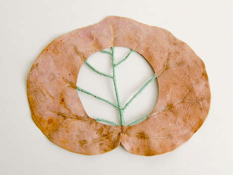 14 Artful Leaf Designs - From Delicate Leaf Bowls to Trimmed Foliage Illustrations