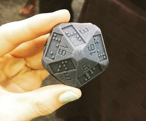 Printed Braille Die - These 3D Printed D20 Dice Aid the Visually Impaired Play D&D