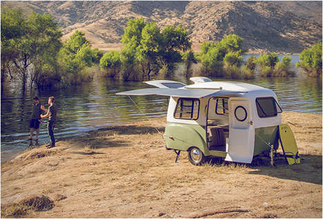 Technology-Integrated Campers - The Happier Camper Brings the Luxuries of Urban Life into the Wild