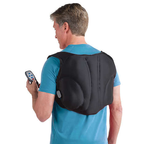 Knapsack-Style Massagers - The Wearable Heated Back Massager Means Working Out Knots Almost Anywhere