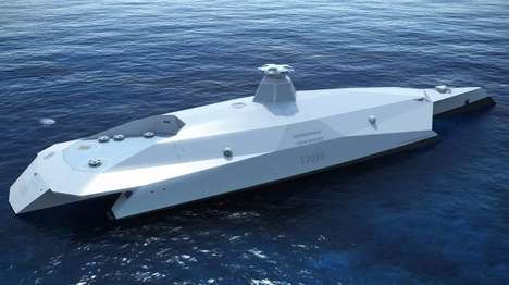 Futuristic Warship Concepts - The Dreadnought 2050 Concept Features Incredible High-Tech Features