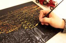 Scratch Art Coloring Books - This Scratch-Away Art Book Lets You Reveal the Night Sky