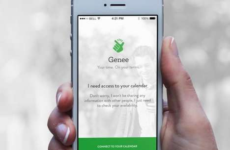 Appointment-Scheduling Apps - The Genee App Makes Scheduling Meetings with Friends Easier