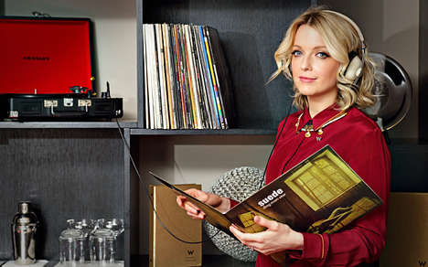 Room Service Vinyl Menus - The W London Offers a Curated Selection of Vinyl Delivered to Rooms