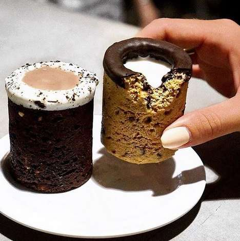 Cookie Shot Glasses - This California Cafe Serves Delicious Cream-Filled Cookie Cups