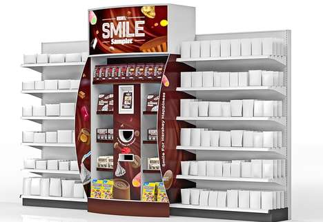 Smile-Activated Candy Dispensers - Hershey's Interactive 'Smile Sampler' Trades a Grin for a Treat