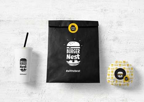 Fast Organic Burger Chains - This Greek Burger Chain Boasts Sleek Packaging for the Design Lover