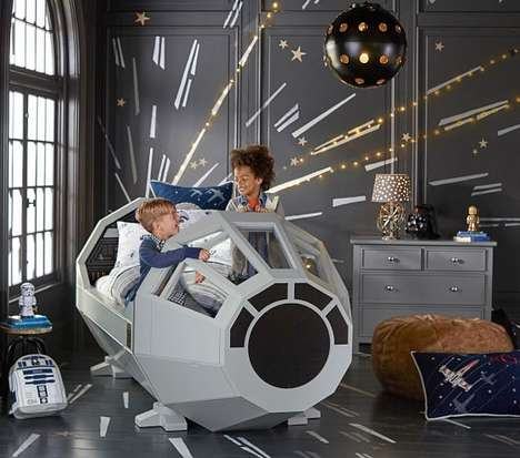 Galactic Novelty Beds - Celebrate Force Friday with a Sci-0Bed Lets You Sleep in a Millennium Falcon