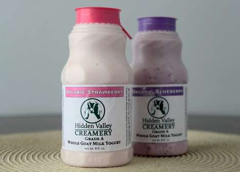 Drinkable Goat's Milk Yogurts - This Yogurt-Based Drink Provides a Portable Breakfast Solution