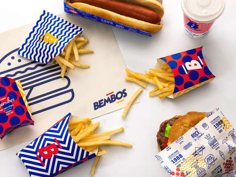 Kidcore Burger Branding - This Peruvian Burger Chain Branding References 1990s-Era Design