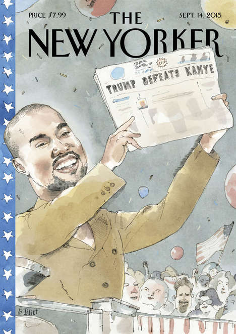 Presidental Rapper Covers - This New Yorker Cover Imagines a Kanye West Presidency in 2020