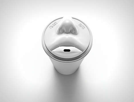 Lip-Locking Coffee Cups - Coffee Kiss Packaging Places a Pair of Smoochers Into the Lid