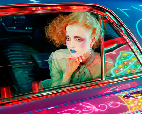 Cinematic Beauty Editorials - Madison Stubbington Stars in Vogue Italia's Chromatic Nightlife Shoot