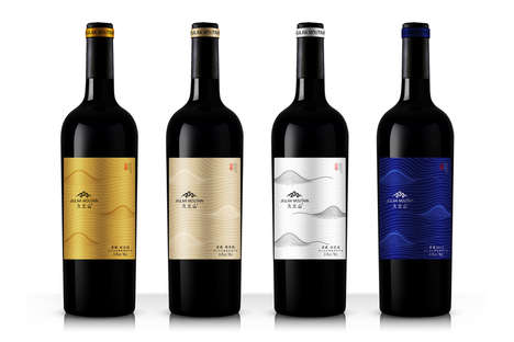 Landscaped Wine Labels - Mountain Wine Packaging Visually Articulates the Grapes' Growing Regions