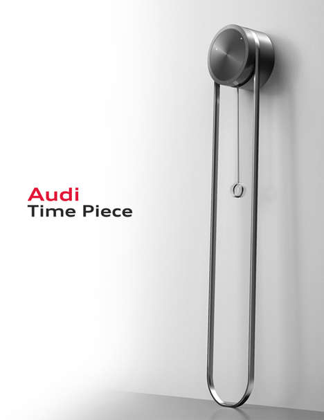 Car-Inspired Clocks - This Audi Clock Embodies the Aesthetics and Tech of the Vehicle Brand's Design