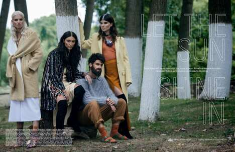Nomadic Couture Portraits - Elle Serbia's 'Let The Sun Shine In' Story is a Nod to Gypsy Fashion