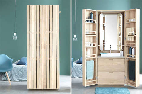 Compact Water Closets - The Armoire, La Cabine, Contains the Main Amenities of a Bathroom