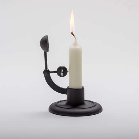 Self-Extinguishing Candlesticks - 'The Moment' is a Cast-Iron Candle Holder from Maison&Objet 2015