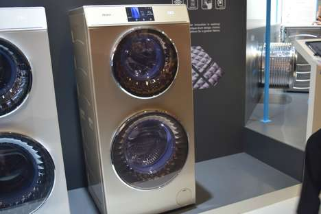 Dual Washing Machines - The Haier Duo Appliance Design Allows Two Loads to Be Washed Simultaneously