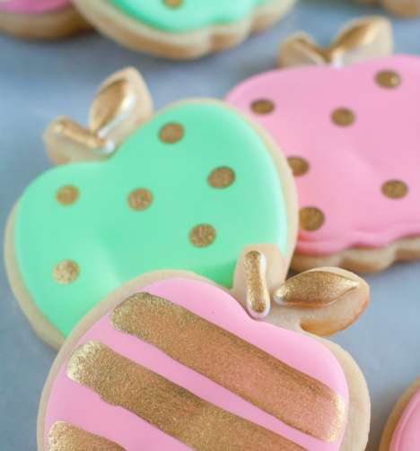 Pastel Fruit Cookies - These Fall-Themed Biscuits are Shaped Like Mini Golden Apples