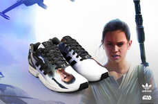 Custom Intergalactic Sneakers - These Shoes are Personalized by Star Wars: The Force Awakens Images