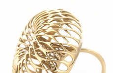 3D-Printed Gold Jewelry - Lionel T. Dean's 18 Carat Gold Designs Could Change the Jewelry Industry