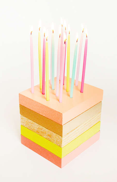 Wooden Birthday Cakes - This DIY Birthday Cake is a Delicious Looking Piece of Party Decor