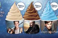 Filmic Froyo Flavors - This Cinema-Inspired Promotion Celebrates the Release of 'PAN'
