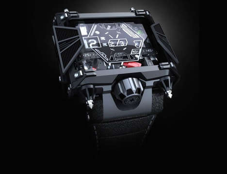 Villainous Galactic Watches - Devon's $28,500 Star Wars Watches Resemble the Iconic TIE Fighter Jet