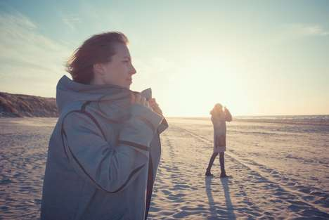 Solar-Powered Parkas - This Fashionable Solar Parka Boasts Hip Pockets That Double as Phone Chargers