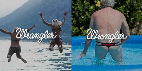 Contrasting Lifestyle Campaigns - Wrangler Jeans Playfully Portrays Different Visual Messages