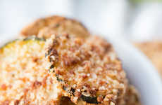 Cracker-Crusted Zucchini Chips - Crispy Zucchini Chips are a Healthy Potato Chip Alternative