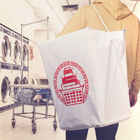 Delivery Container Bags - The Takeout Container Laundry Hamper is Hilarious Oversized