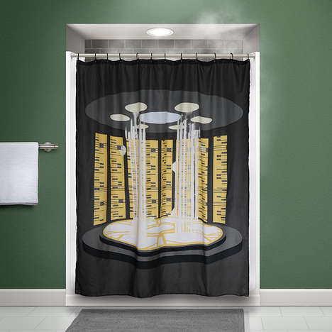 Intergalactic Bathroom Accessories - The Star Trek TNG Shower Curtain is Ready to Beam You Up